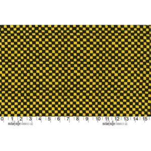 Clown Check Flannel By Michael Miller - Yellow