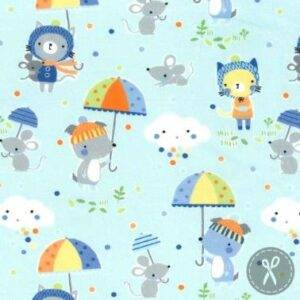 Puddle Play Flannel By Michael Miller - Periwinkle