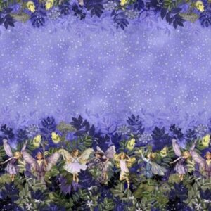 Fairies By Michael Miller - Nite - Night Fairies Border