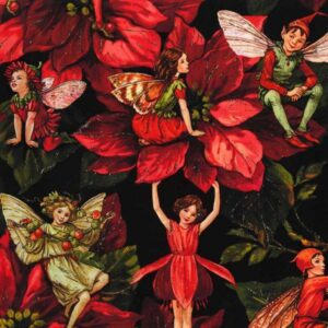 Holiday Fairies By Michael Miller - Red
