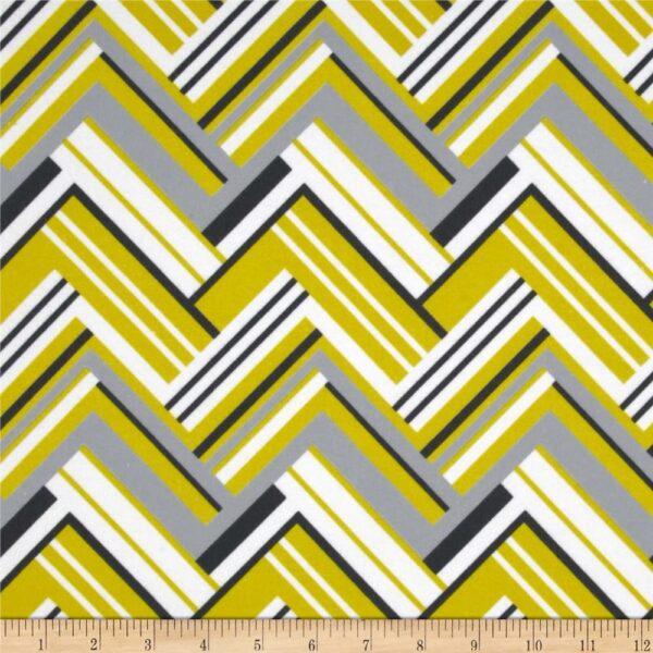 Citron Gray Flannel By Michael Miller  - Citron