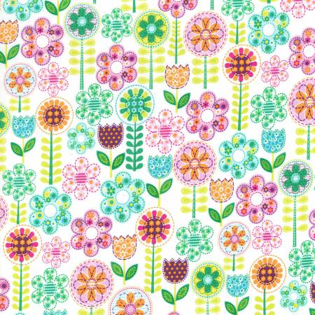 Fantasy Flowers  By Michael Miller - Multi