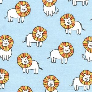 Baby Zoo Flannel By Michael Miller - Sky