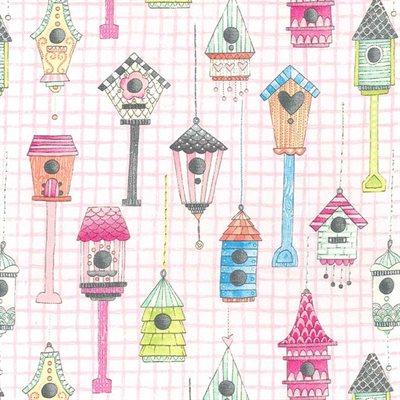 Tweet Me By Michael Miller - Pink
