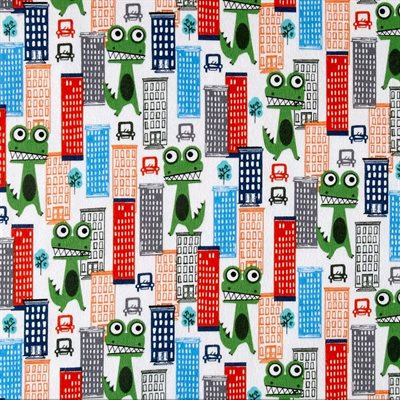 Loose In The City Flannel By Michael Miller - Primary
