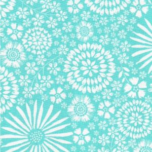Flora Pop By Michael Miller - Aqua