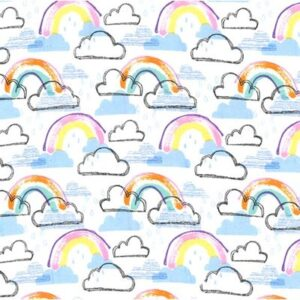 Rainbow Kids Flannel By Michael Miller - Pastel