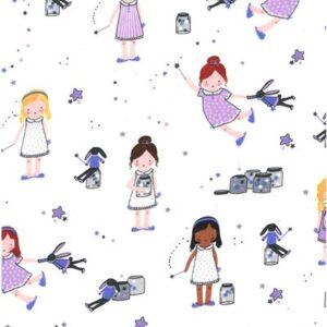 Twinkle Twinkle Little Stars Flannel By Michael Miller - Twinkle