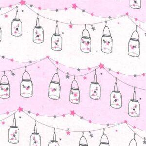 Twinkle Twinkle Little Jars Flannel By Michael Miller - Starlight
