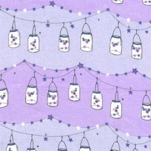 Twinkle Twinkle Little Jars Flannel By Michael Miller - Twilight