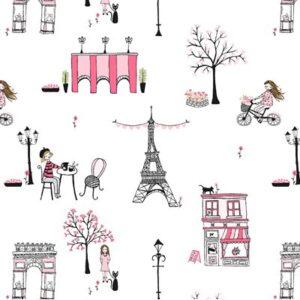 Paris Valentine By Michael Miller - White