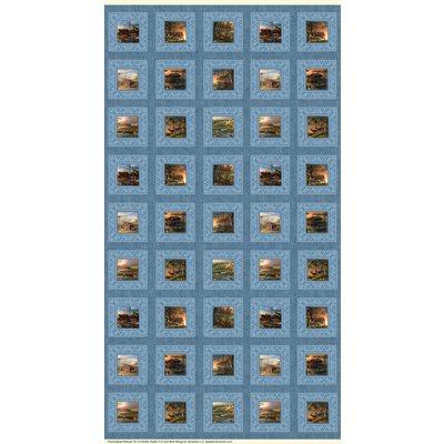 Homestead Retreat By Terry Redlin/Wild Wings For Benartex - Blue
