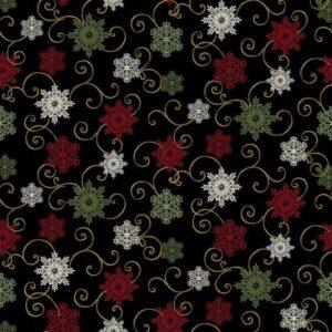 A Festive Season Ii By Jackie Robinson For Benartex - Black
