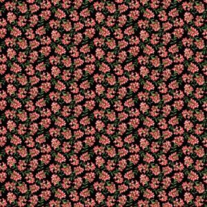 A Wildflower Meadow By Jackie Robinson For Benartex - Black/Red