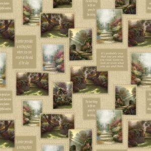 Inspirations For Living By Thomas Kinkade For Benartex - Tan