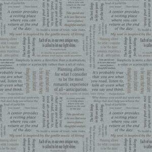 Inspirations For Living By Thomas Kinkade For Benartex - Light Grey