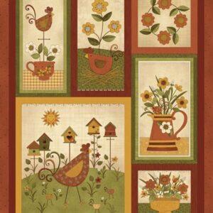 Chicks On The Run By Cheryl Haynes For Benartex - Spice