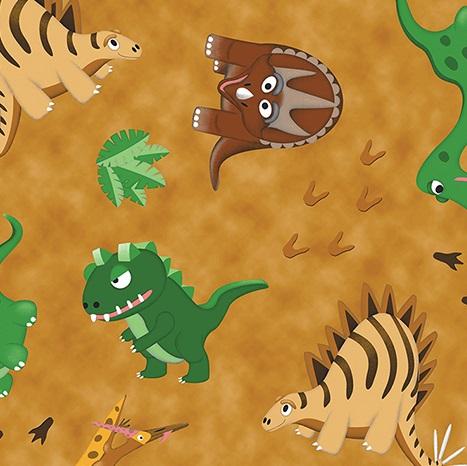 Dino Age By Contempo For Benartex - Lt. Brown