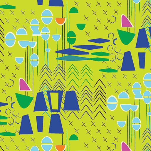 Modern Marks By Contempo Studio For Benartex - Lime
