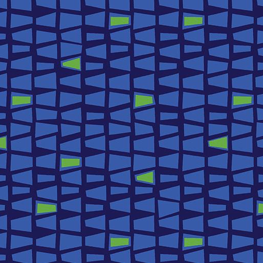 Modern Marks By Contempo Studio For Benartex - Navy/Blue
