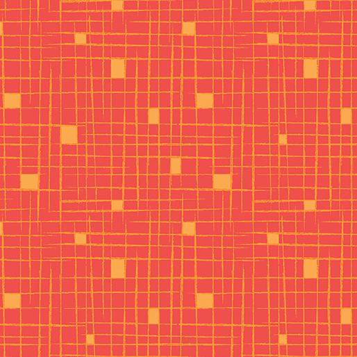 Modern Marks By Contempo Studio For Benartex - Tangerine