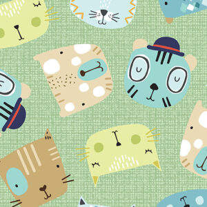Little Friends By Contempo For Benartex - Green