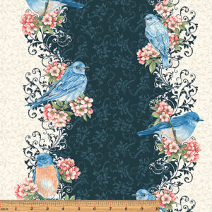 Bluebird Gathering By Jackie Robinson - Blue/Cream