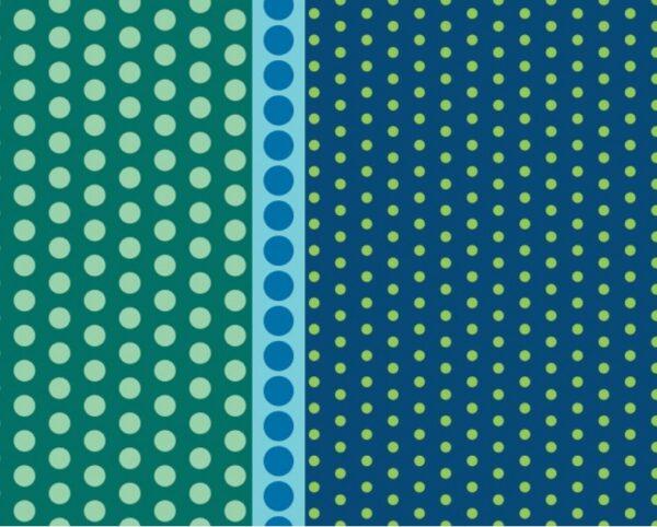 Dot Crazy By Contempo Studio For Benartex - Teal