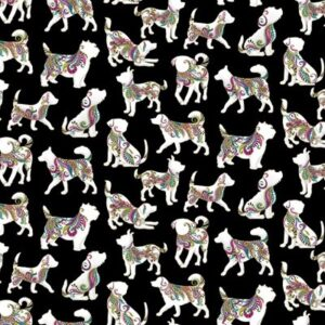 Dog On It By Ann Lauer For Benartex - Black/Multi