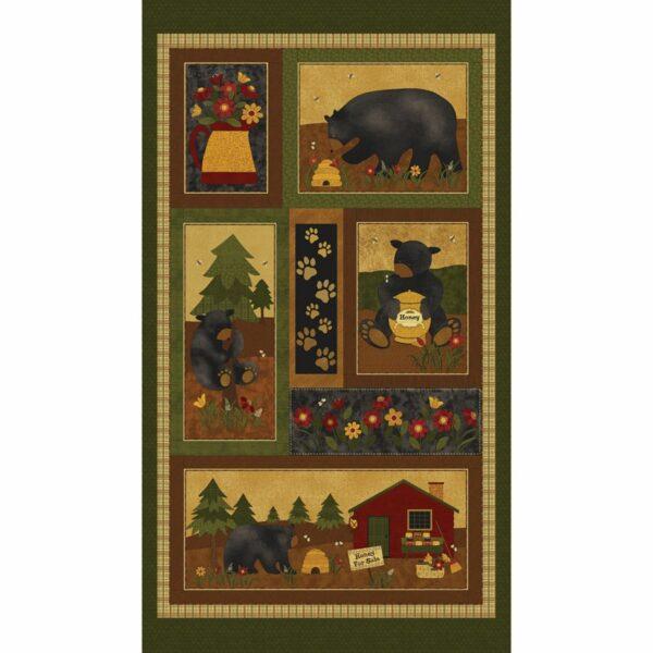 Bear Paws By Cheryl Haynes For Benartex - Multi