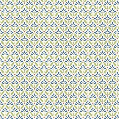 Home Grown By Nancy Halvorsen For Benartex - Cream/Blue