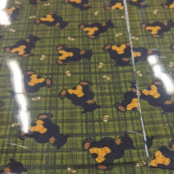 Bear Paws By Cheryl Haynes For Benartex - Green