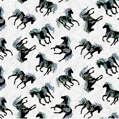 Horsen Around By Ann Lauer For Benartex - Gray/Multi