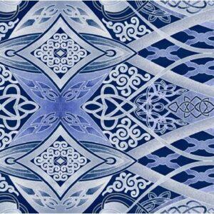 Artful Snowflake By Paula Nadelstern For Benartex - Blue