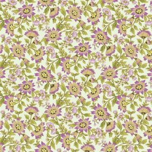 Ribbon Floral By Dover Hill For Benartex - Mint