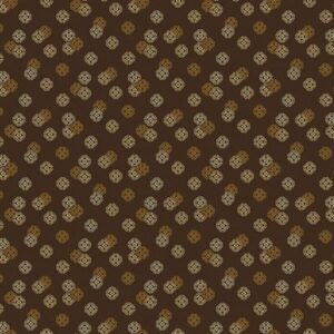 Ribbon Floral By Dover Hill For Benartex - Chocolate