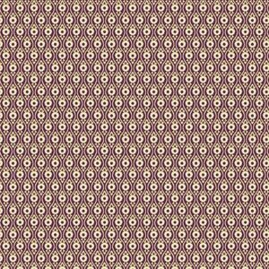 Ribbon Floral By Dover Hill For Benartex - Dark Plum