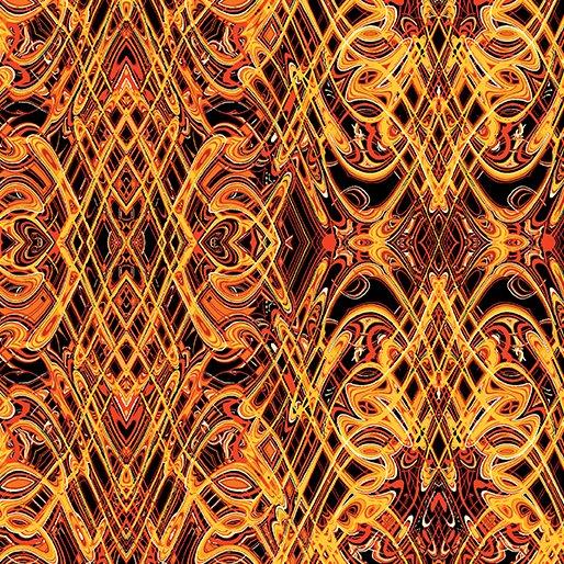 Kismet By Paula Nadelstern For Benartex - Orange