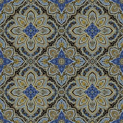 Blue Symphony By Kanvas Studio For Benartex - Black/Royal