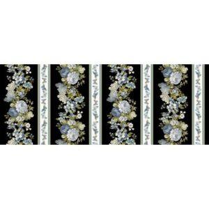 Blue Symphony By Kanvas Studio For Benartex - Cream/Black