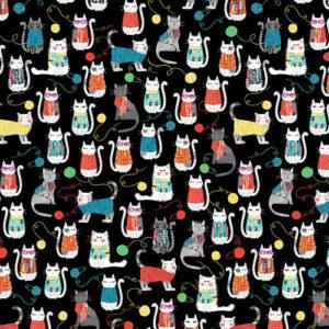 Knit Together By Kanvas Studio For Benartex - Black