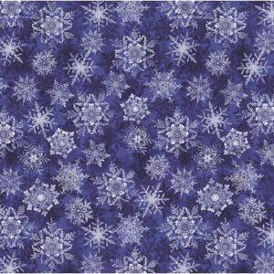 Pearl Frost By Kanvas Studio For Benartex - Frost Cobalt