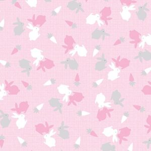 Hunny Bunny Flannel By Kanvas  - Pink