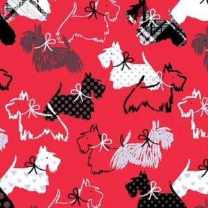 Scottie Love Flannel By Kanvas Studio - Red