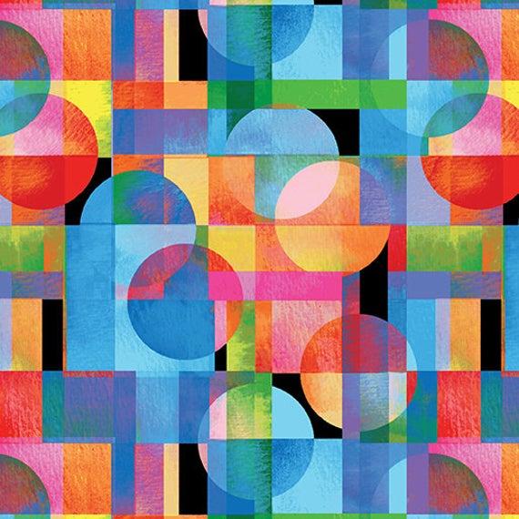 Blocks Of Brillance By Kanvas For Benartex - Black/Bright