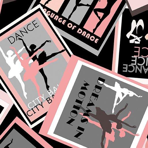 City Ballet By Kanvas For Benartex - Black