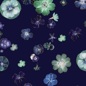 Floral Impressions By Kanvas Studio For Benartex - Navy