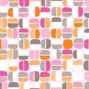 Koala Baby Flannel By Kanvas Studio For Benartex - Pink/Orange
