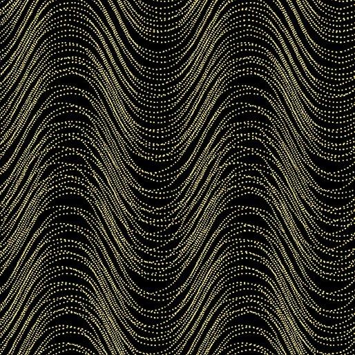 Pansy Noir By Kanvas Studio For Benartex - Gold