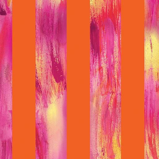 Sun Burst By Kanvas Studio For Benartex - Orange